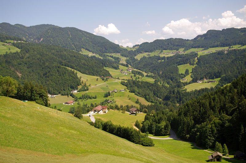 Ferienhaus Neuhäusl in Brandenberg Aussicht